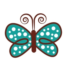 beautiful butterfly colorful icon vector image