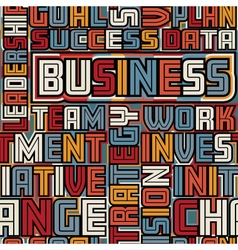 Business words seamless tile vector