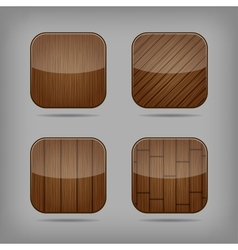 Wooden buttons set vector