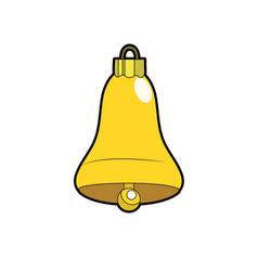 bell decoration design and alert sound vector image