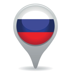 Russian flag pointer vector