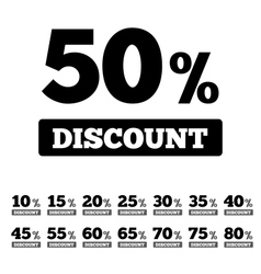 Sale discounts stamps Special offer stickers vector image