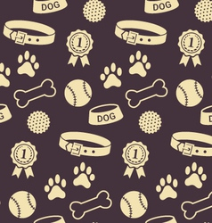 Seamless pattern with dogs stuff vector image
