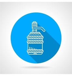 Water cooler bottle blue round icon vector