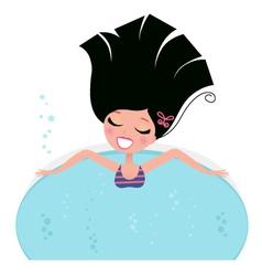 Spa bath vector