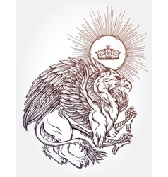 Griffin beast vector image