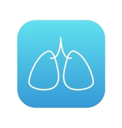 Lungs line icon vector
