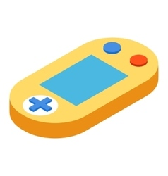 Game console isometric 3d icon vector image
