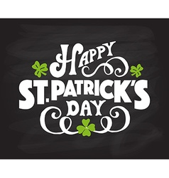 Hand sketched text happy saint patricks day on vector