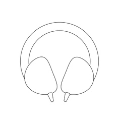 Headphones path vector