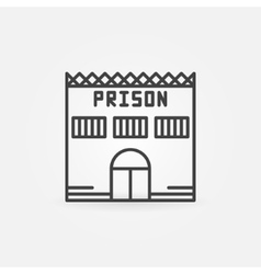 Prison building icon vector