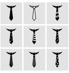 black tie icon set vector image vector image
