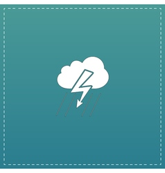 Cloud thunderstorm lightning rain icon vector