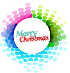 Colorful christmas banner vector