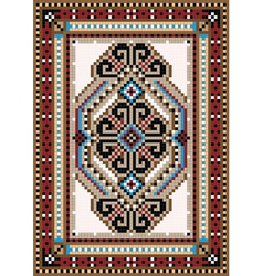 Design in the frame for carpet vector
