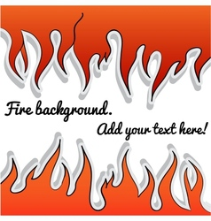 Fire-sticker background vector image vector image