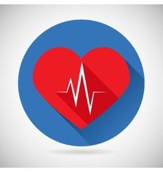 Healthcare and Medical Care Symbol Heart Beat Rate vector image vector image