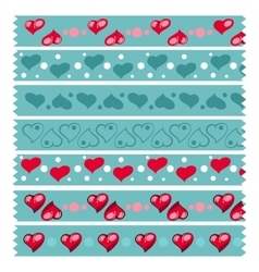 Heart tape pattern vector