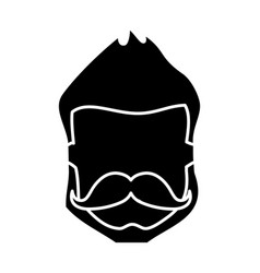 Hispter man icon vector