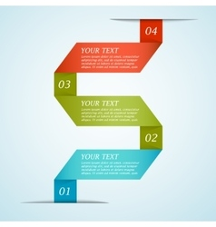 Infographic ribbon template vector image vector image