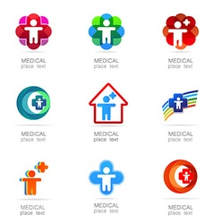 medical logo set vector image vector image