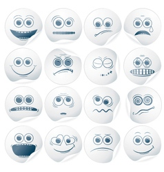 paper faces vector image