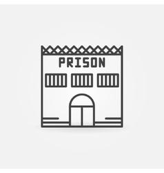 Prison building icon vector image