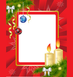 Red Christmas Frame vector image vector image