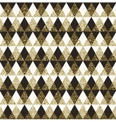 Seamless geometric background with glitter gold vector image vector image