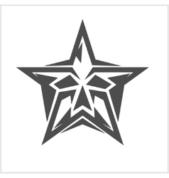 Star with skull - element for tattoo and vector