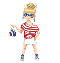 summer girl is fashion vector image vector image