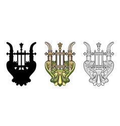 Symbolic lyre vector