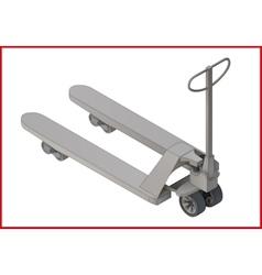 Trolley platform flat 3d vector
