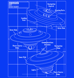 Ufo blueprint vector