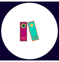 Archive folders computer symbol vector