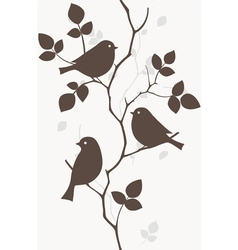 Birds on tree vector