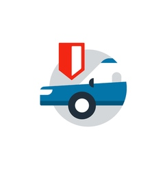 Auto car insurance protection from stealing vector