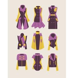 woman coats and jackets vector image