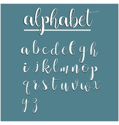 English alphabet calligraphy lettering modern vector