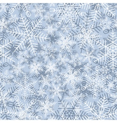 Seamless winter background of snowflake vector image