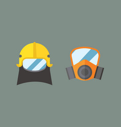 respiratory protection mask vector image