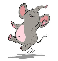 Cartoon image of dancing elephant vector