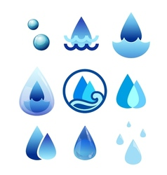 Drop water vector