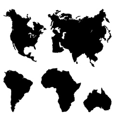 Continents pictogram vector