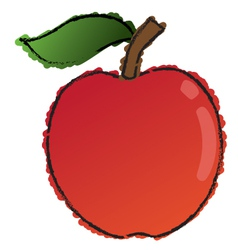 Scribble apple vector