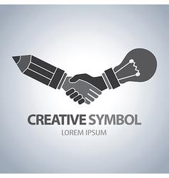 Creative and idea symbol vector