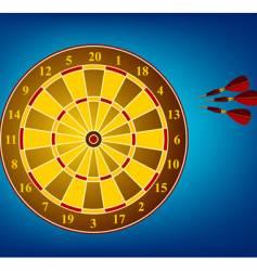 dart board and darts vector image
