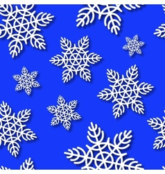 Snowflakes seamless blue background vector