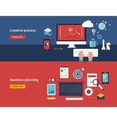 Creative process and business planning vector