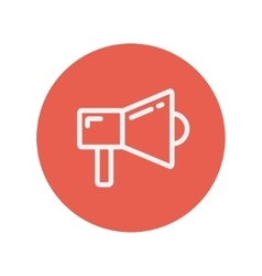 Megaphone thin line icon vector